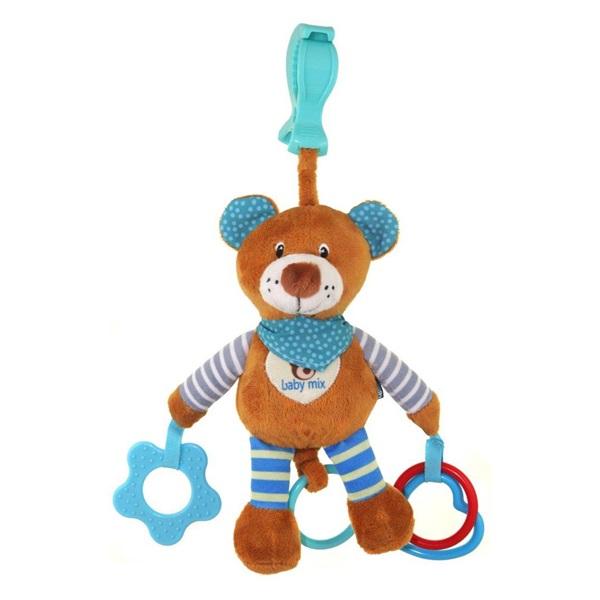 Závěs do kočárku - Mini hrazdička - kluk Hračky na kočárek nejen že vaše dítě zabaví, ale budou zdokonalovat jeho zrakové i hmatové vnímání.
